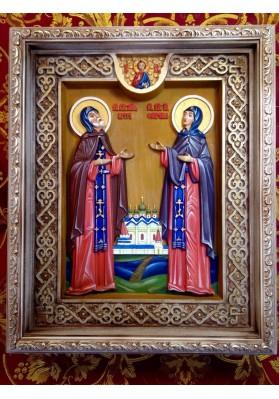 св Пётр и Феврония в росписи