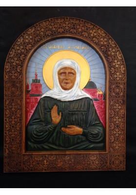 Святая Блаженная Матрона Московская в росписи