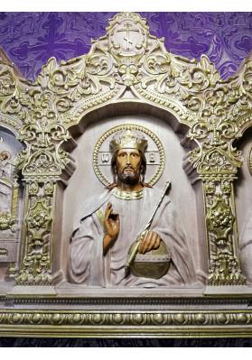 Иконостас Спаситель, Богородица и Николай Чудотворец в росписи